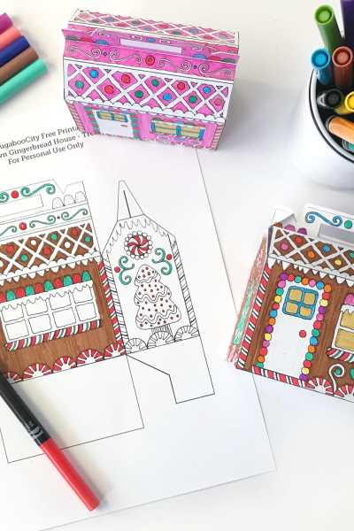 Color-Your-Own Gingerbread House Treat Box