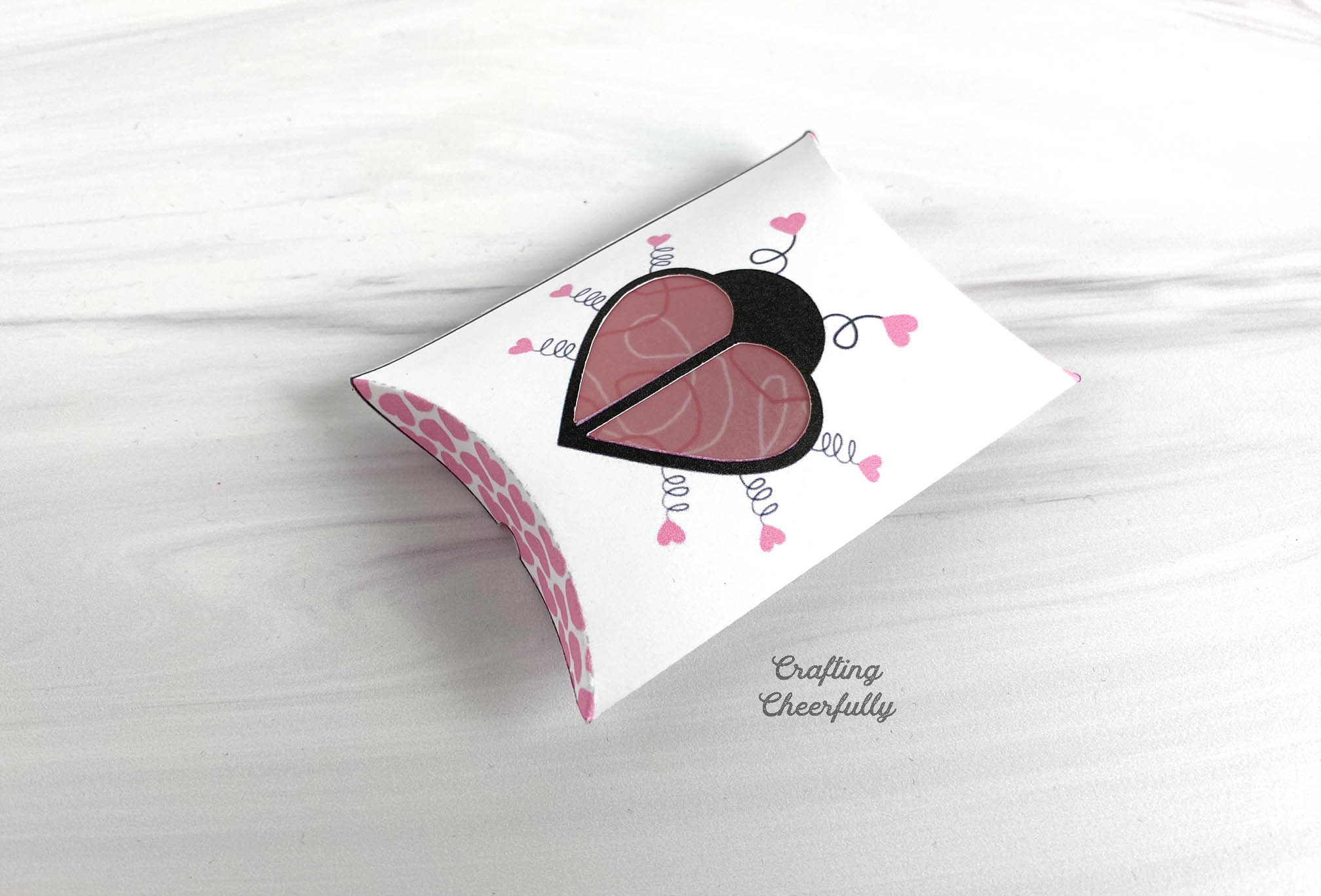 DIY Love Bug Valentine's Day Pillow Box