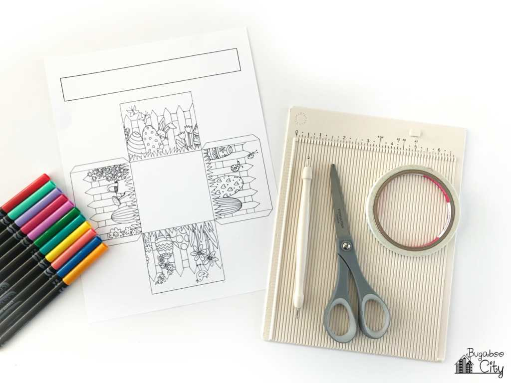 Color-Your-Own Easter Basket with Free Printables