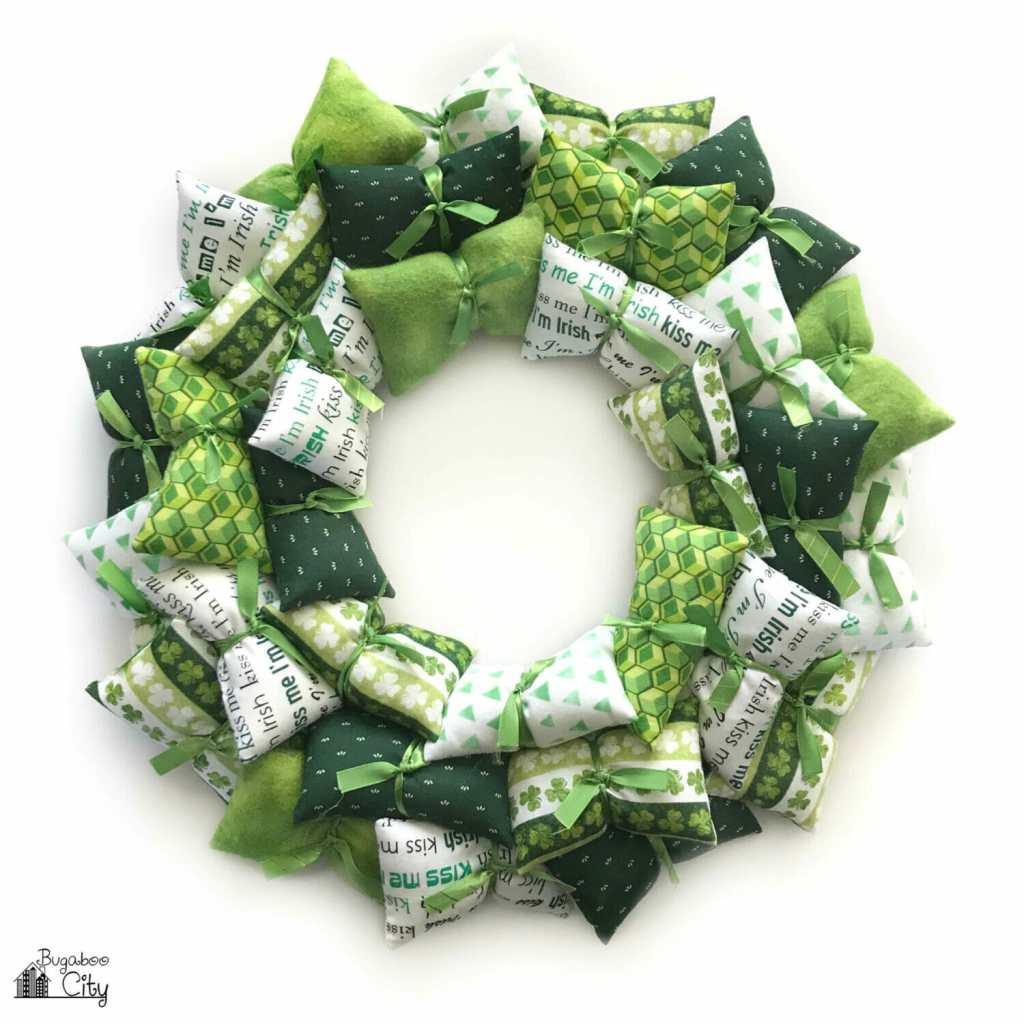 DIY St. Patrick's Day Pillow Wreath
