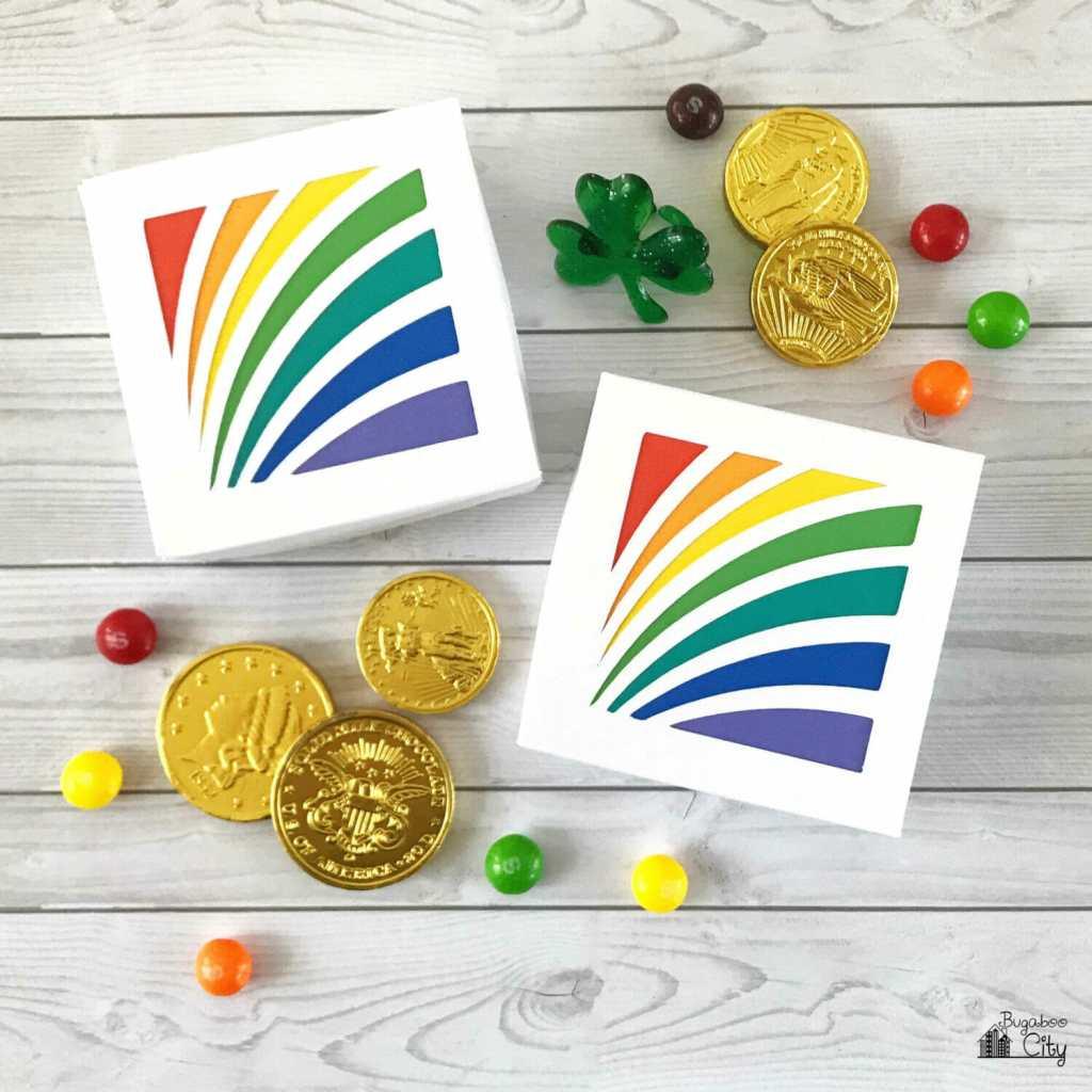 DIY Rainbow Treat Box with Free SVG Cut File