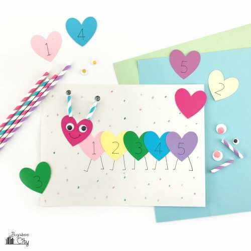 Valentine's Day Caterpillar - Preschool Craft
