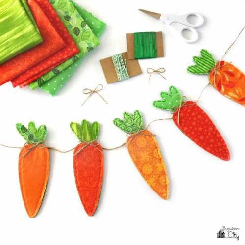 Fabric Carrot Banner