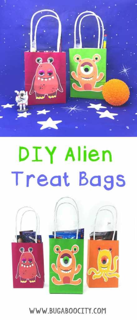 DIY Alien Treat Party Favor Bags