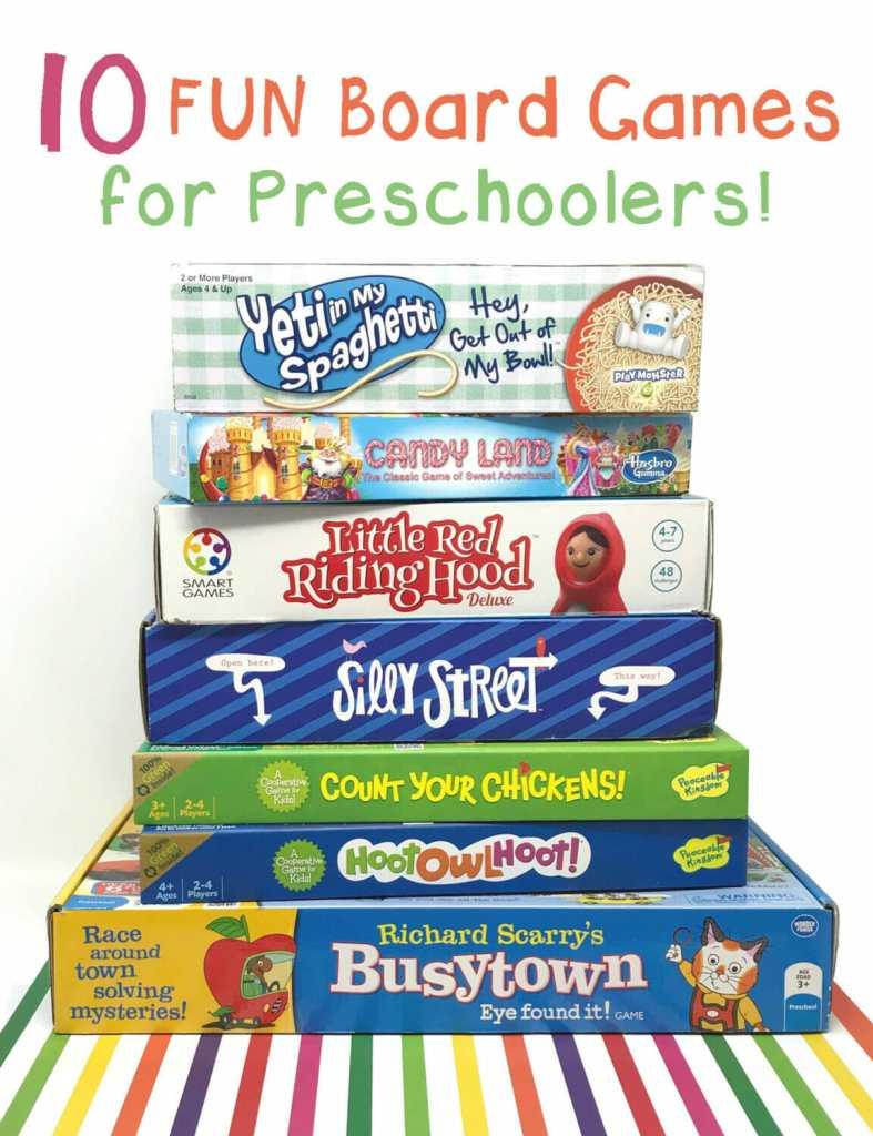 10 Fun Board Games for Preschoolers!