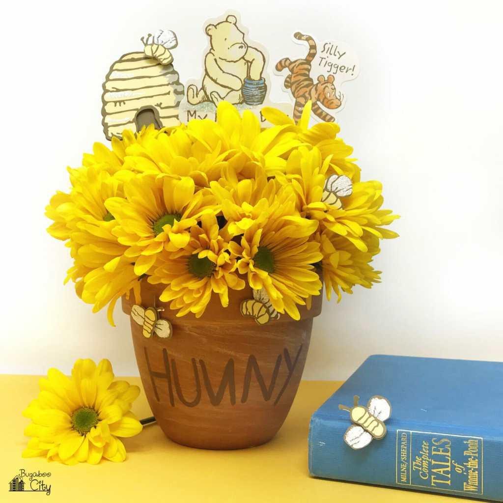 Winnie the Pooh Honey Pot Centerpiece - DIY Birthday Party Decor
