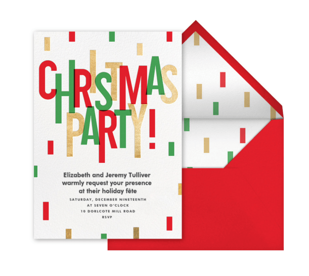 Paperless Post Christmas Invitation