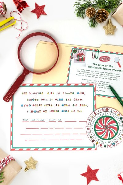 Christmas Secret Decoder Wheel – Free Printable