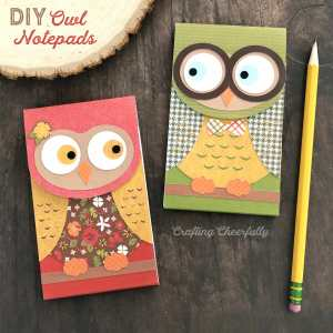 DIY Owl Notepads – SVG Cut File