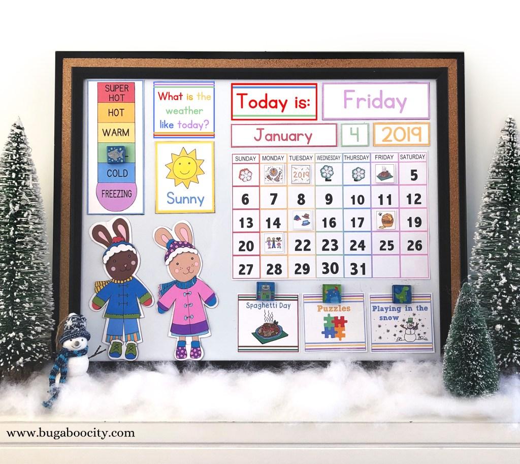 DIY Children's Calendar Free Printables