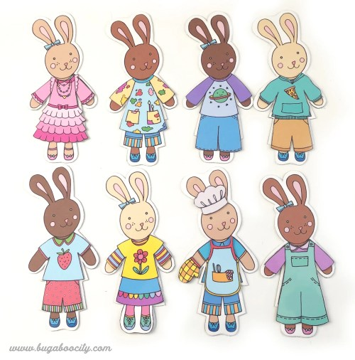 Free Printable Bunny Dolls