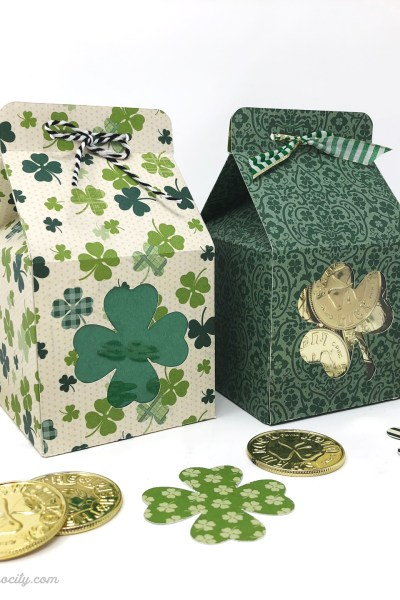 DIY St. Patrick's Day Treat Boxes – Free Pattern and Cut File