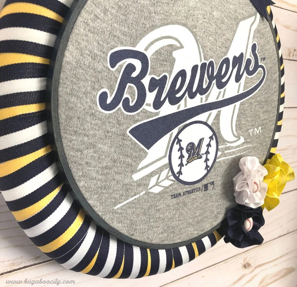 DIY Brewers Baseball Wreath