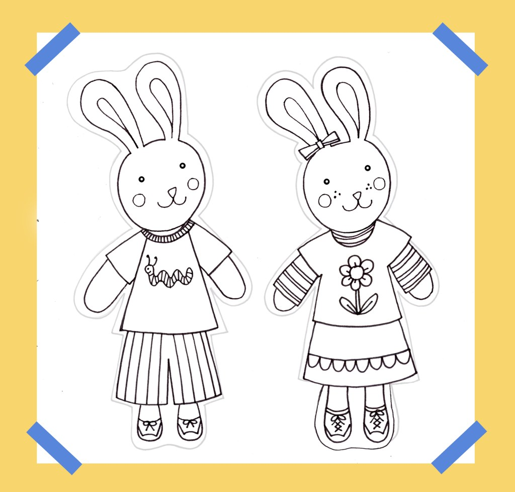 DIY Children's Calendar Color Your Own Bunnies Coloring Pages