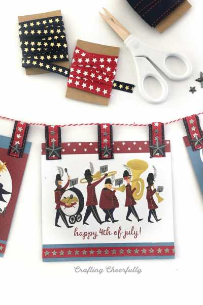 DIY Fourth of July Paper Banner