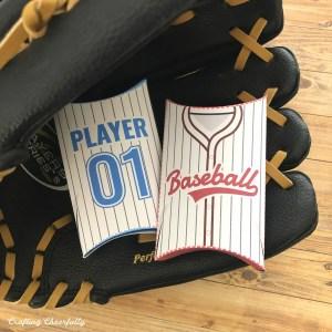 DIY Baseball Jersey Pillow Boxes