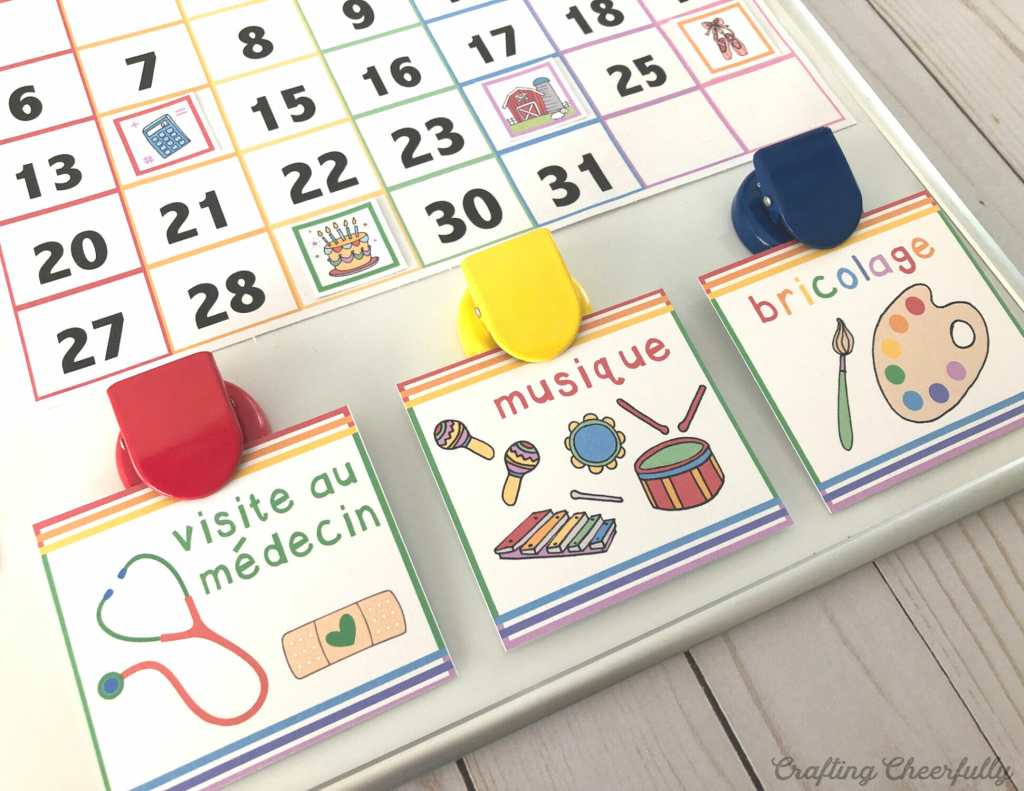 DIY Children's Calendar Cards - Holidays, Activities, School and More!