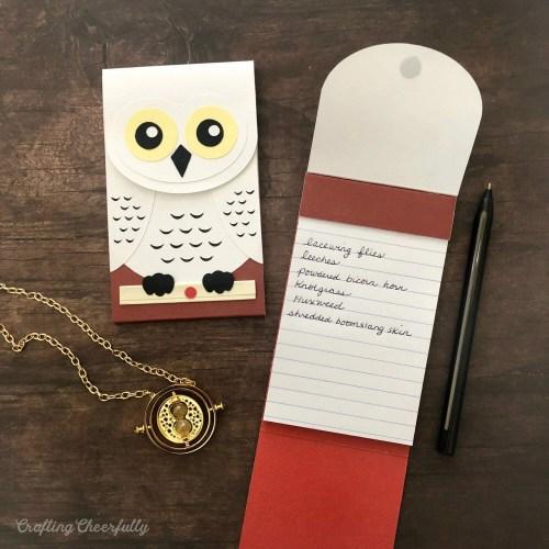 DIY Hedwig Owl Notepad