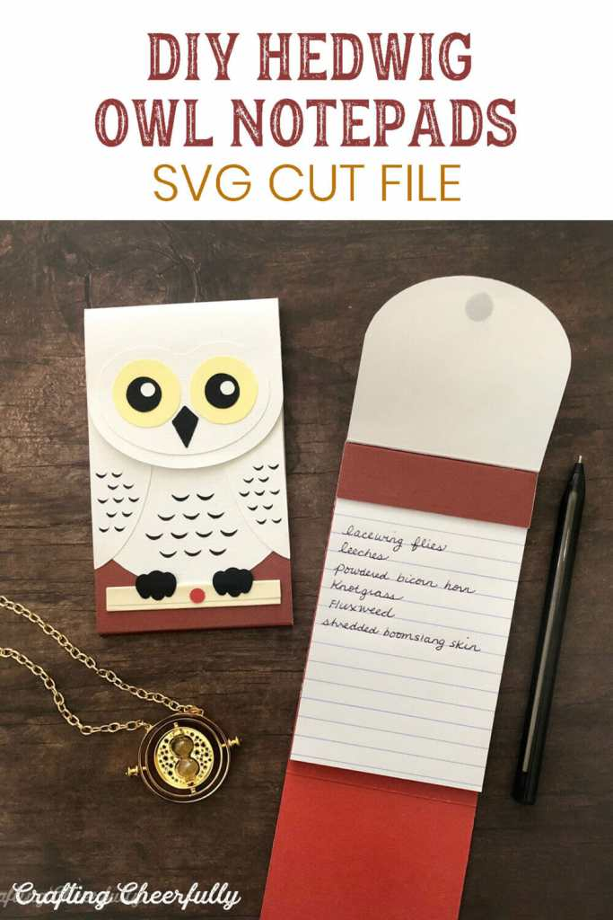 DIY Hedwig Owl Notepads - Harry Potter crafts for your cutting machine