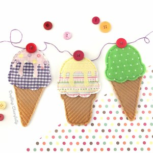 DIY Ice Cream Cone Banner with Free Templates