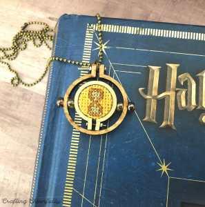 Cross Stitch Time Turner Necklace – Free Pattern!