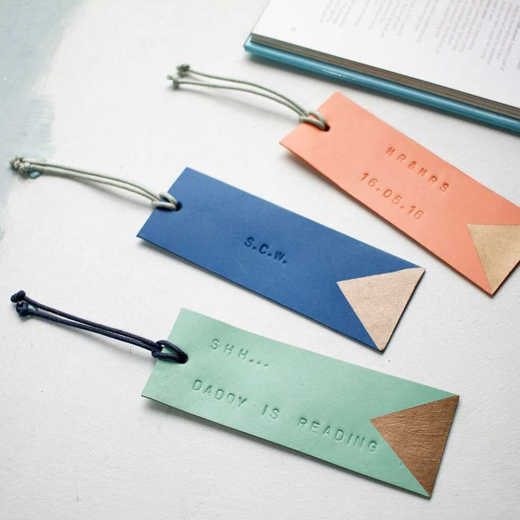 Luxury Leather Personalized Bookmarks Swag and Tassel