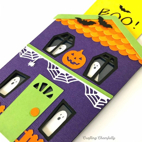 DIY Haunted House Slider Card for Halloween