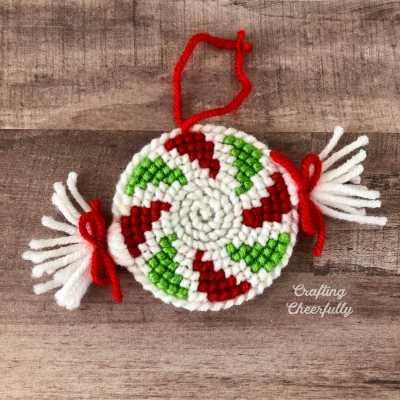 Peppermint Swirl Ornament – New Cross Stitch Pattern