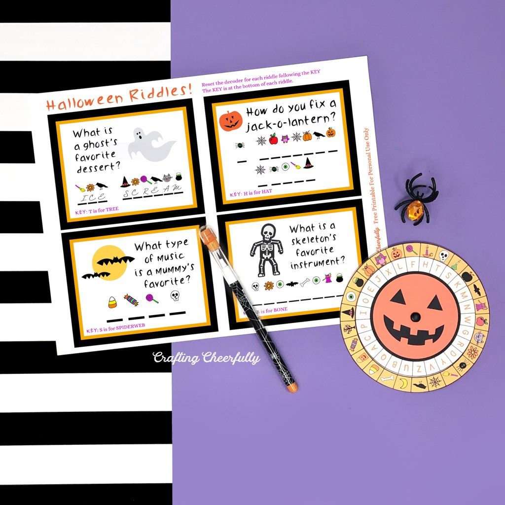 Free Printable Halloween Decoder Wheel