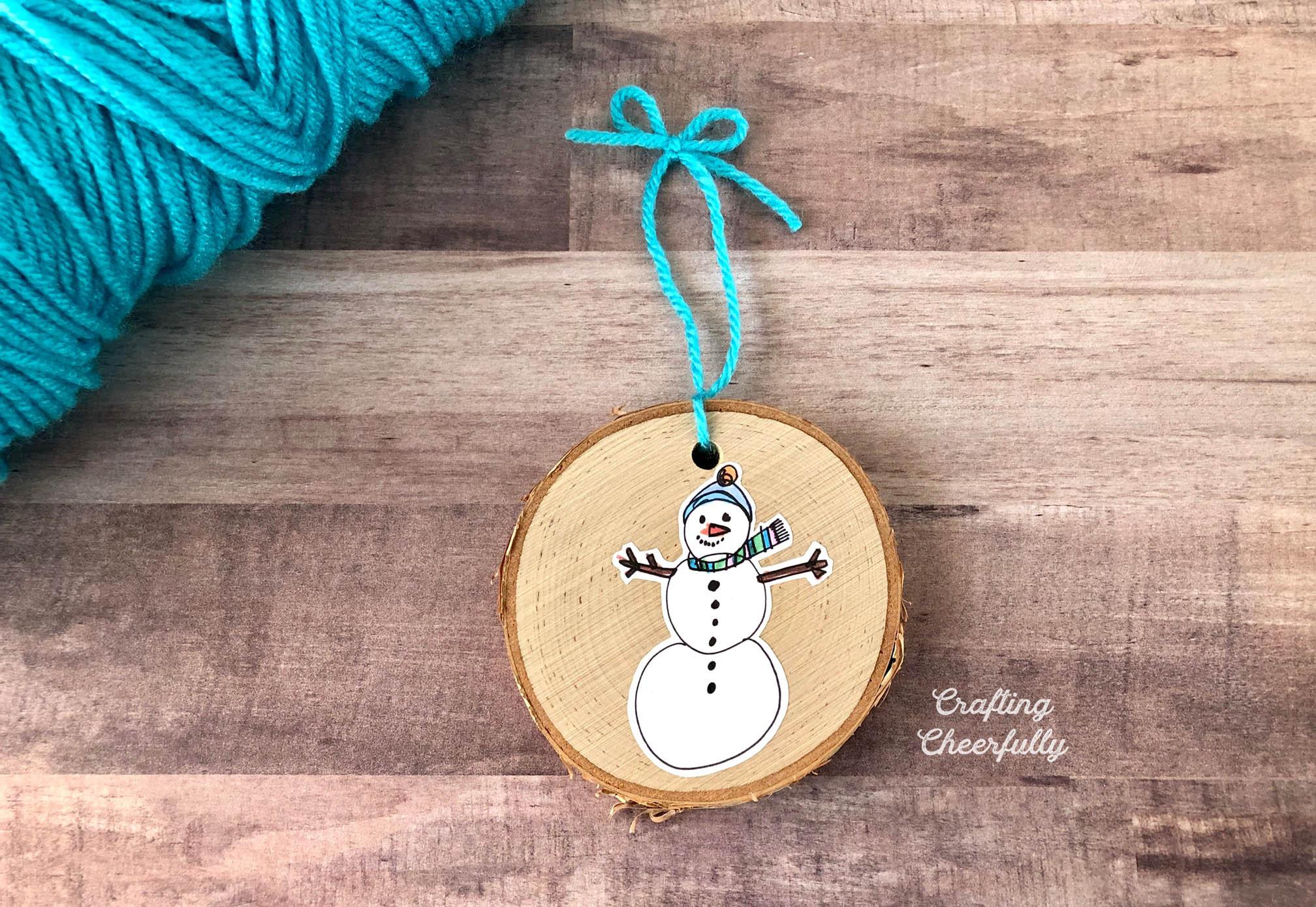 DIY Children's Art Keepsake Ornament