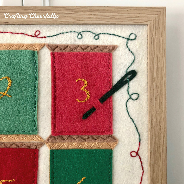 12 Spools of Christmas Felt Embroidery Pattern