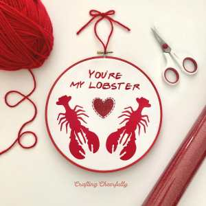 Friends Embroidery Hoop with Cricut Iron-On