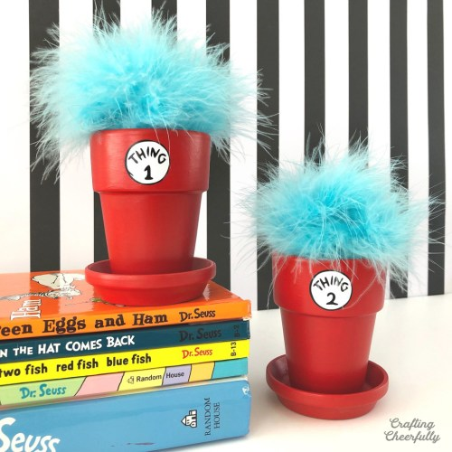 Dr. Seuss Thing 1 and Thing 2 Flower Pots