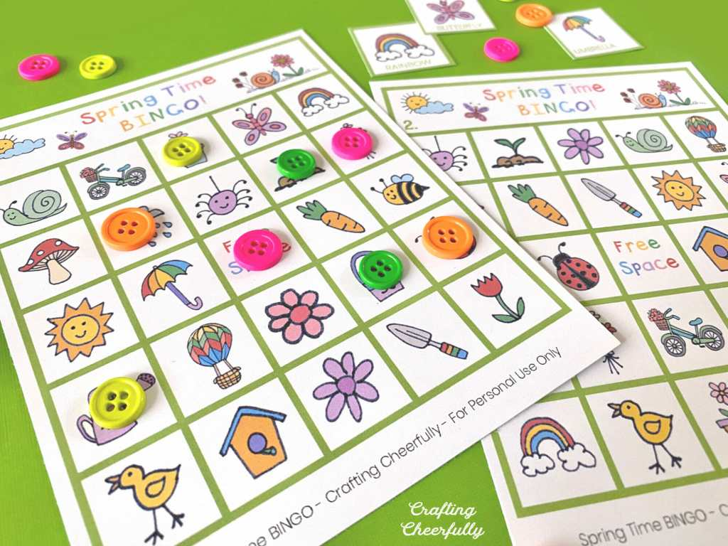 Spring Time BINGO Boards!