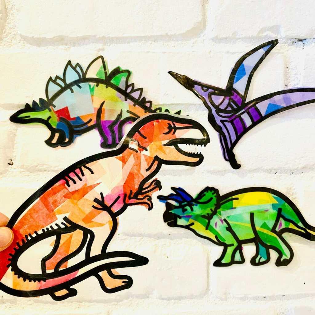 Punch of Color Dinosaur Suncatcher Kit