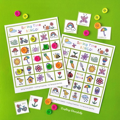 Spring Time BiNGO Boards
