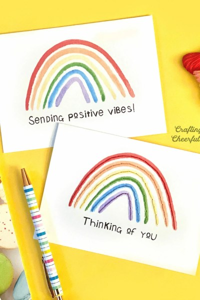 Free Printable Rainbow Cards – With Tutorial for Adding Embroidery
