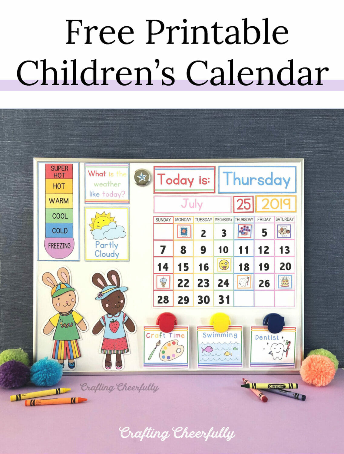 Free Printable Children's Calendar