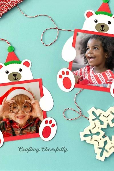 DIY Holiday Ornament Card – Snowy Polar Bear