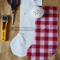 DIY Lined Stocking (Free Pattern)