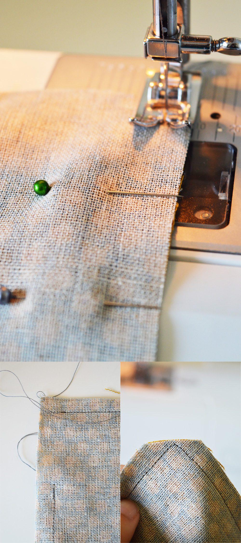 Fabric + #crochet clutch tutorial #sewing