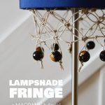Diy Macrame Lampshade Fringe Crafting Fingers