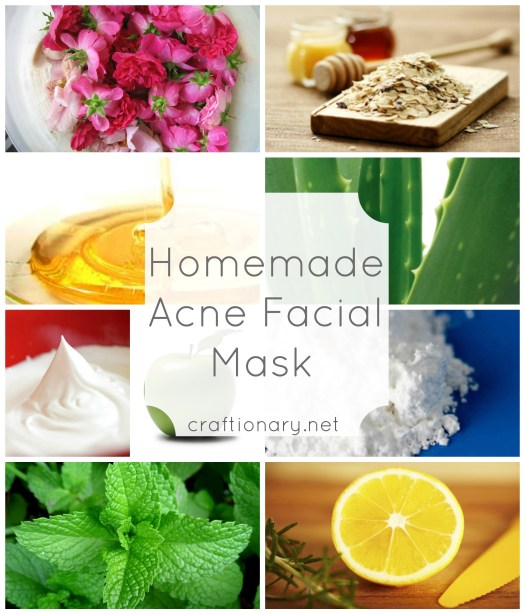 homemade acne facial masks
