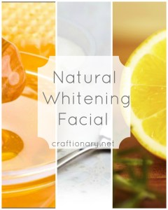 homemade whitening facial