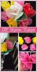 DIY nylon flower tulips