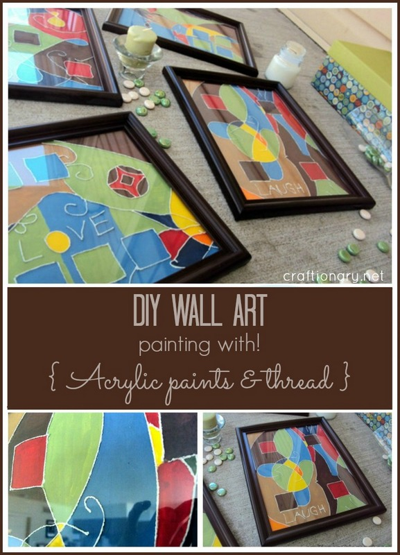 thread painting wall art