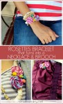 make a rosettes necklace with yarn