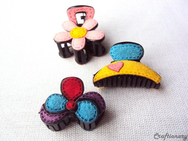 hair clips handmade