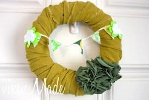 st patricks wreath