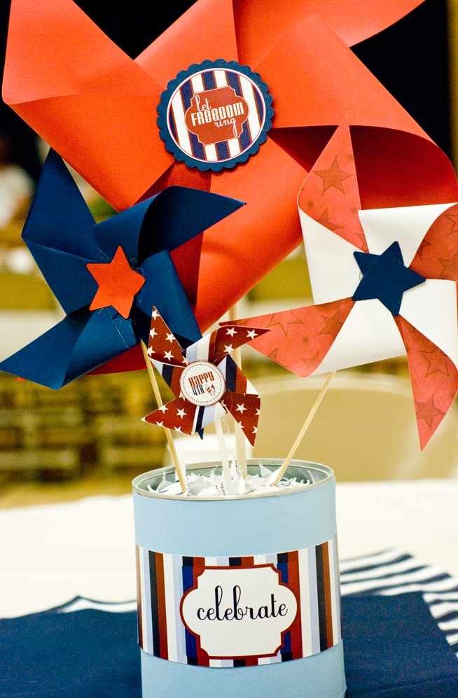 4th of July pinwheel printable